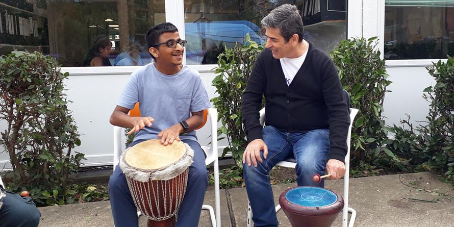 nirav and antonio with drums.jpg