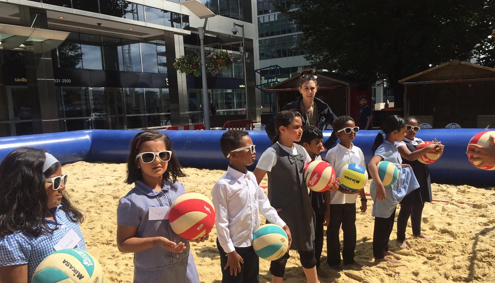 School pupils at my AFK Beach.JPG