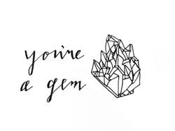 gemstone geometric greeting card