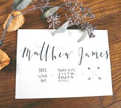 custom envelope lettering