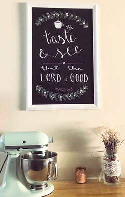 kitchen décor Bible verse