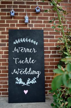 wedding sign--last names