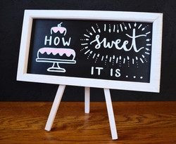 wedding cake/desserts sign