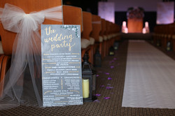 the wedding party sign calligraphy