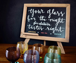 wedding chalkboard bar/drinks menu