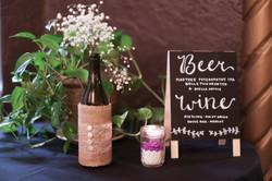 beer & wine wedding bar menu sign