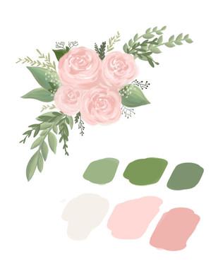 Custom Florals   Wedding Pallet