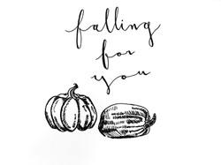 autumn/fall greeting card