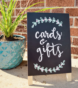 wedding cards & gifts sign