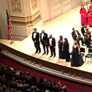 Lorraine Helvick as a Soloist at Carnegie Hall