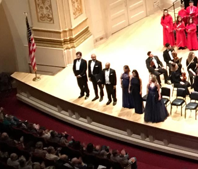Lorraine Helvick as a Soloist at Carnegie Hall