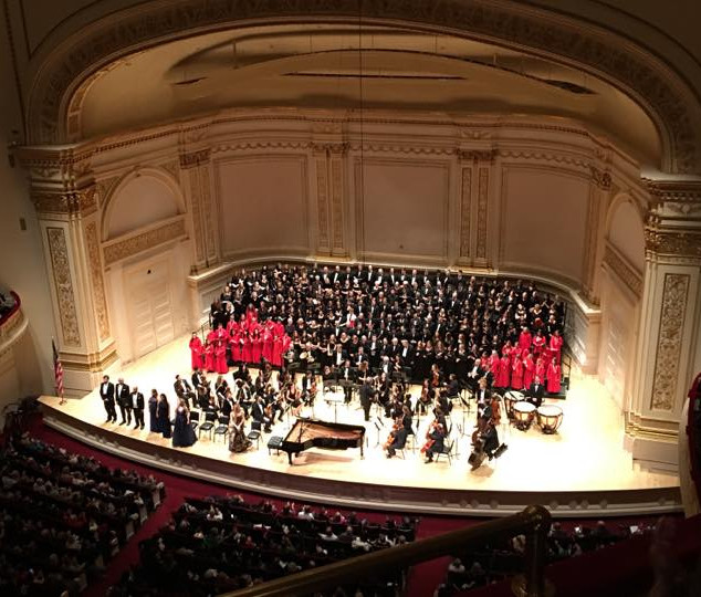 Lorraine Helvick as a Soloist at Carnegie Hall Group Picture