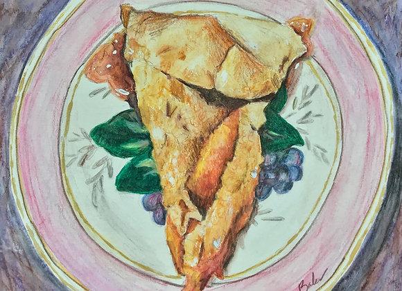 Peach Pan Pie, Original Art