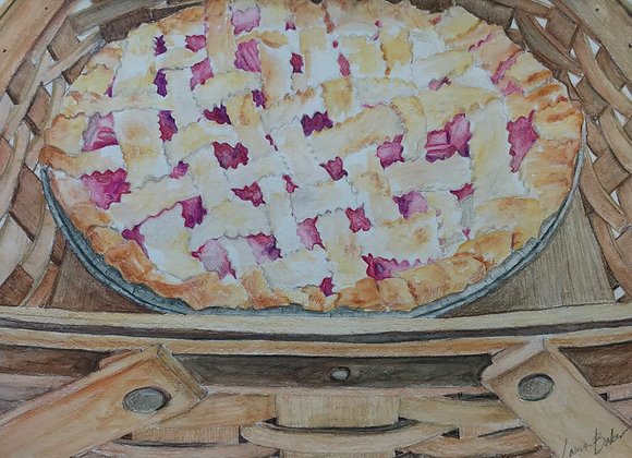 Rhubarb Lattice Pie, Original Art