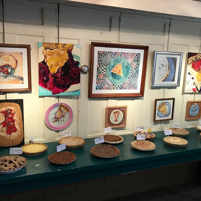 Pie Potluck and Art exhibition