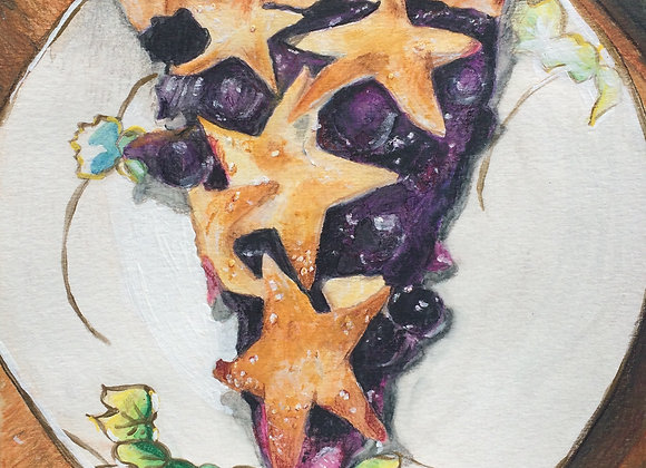 Blueberry Pie, Original Art