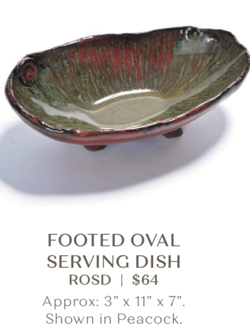 Footed Oval Serving Dish