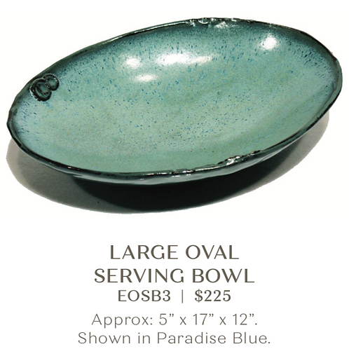 Large Oval Serving Bowl