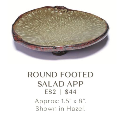 Round Footed Salad Plate