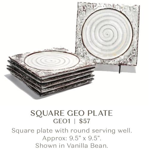 Square Geo Plate