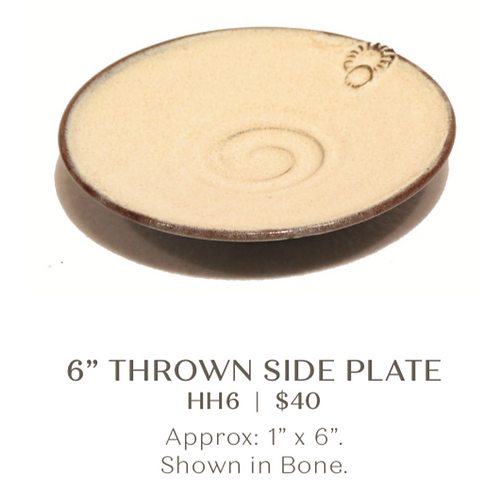 "6"" Thrown Side Plate"
