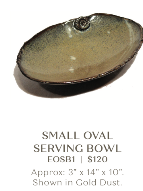 Small Oval Serving Bowl
