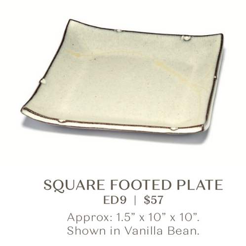 Square Footed Plate