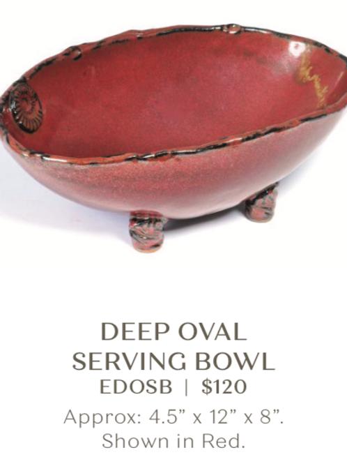 Deep Oval Serving Bowl