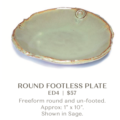 Round Footless Plate
