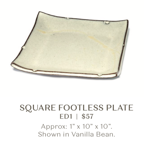 Square Footless Plate