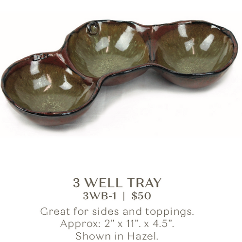 3 Well Tray