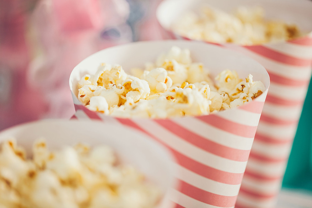 popcorn at movie night