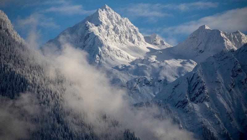 Berge Winter in Gaschurn, Skifahren