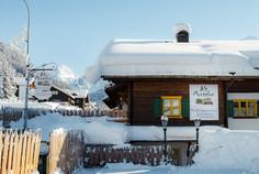 Alt Montafon Winter mit Blick auf Vallül