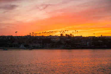 Aerial Photographer | Newport Beach harbor at sunrise