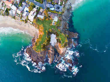 Aerial Photographer | Twin Points in Laguna Beach
