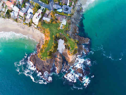 Aerial Photographer | Twin Points in Laguna Beach