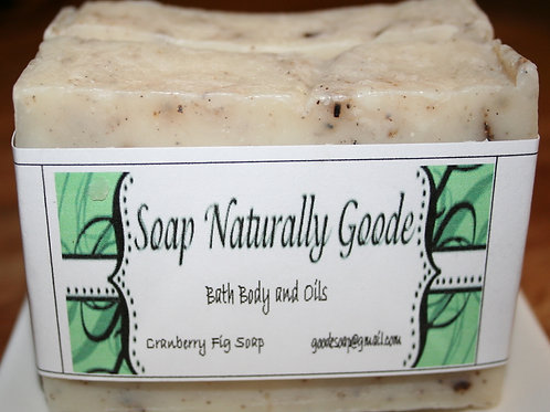 Cranberry Fig Soap Handmade