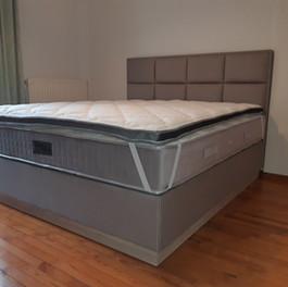 102 μπεζ δερμάτινη κρεβατοκάμαρα με μηχα