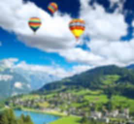 A Small Swiss Village Near The Mountain