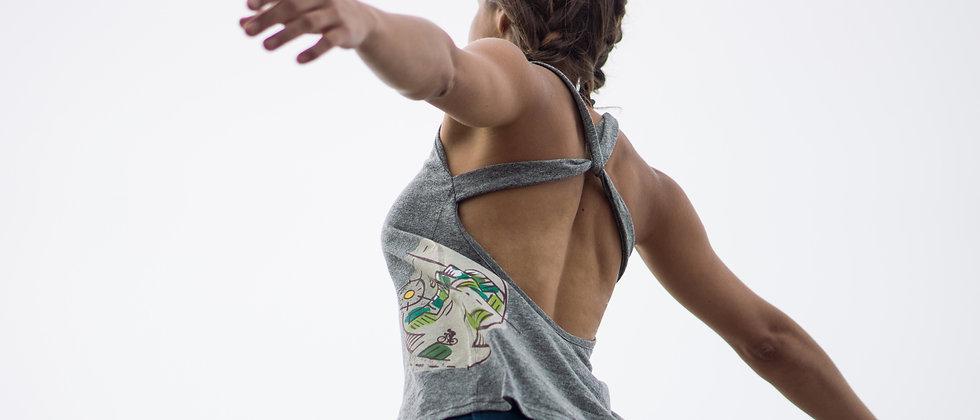 Ikara - franela espalda cruzada