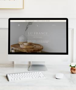 Lu France Interiors Website