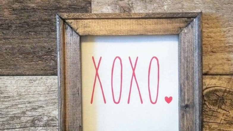 XOXO Valentine's Day Small Wooden Sign/Rae Dun Inspired/Rustic Decor
