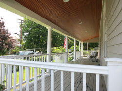 Porch with railing done
