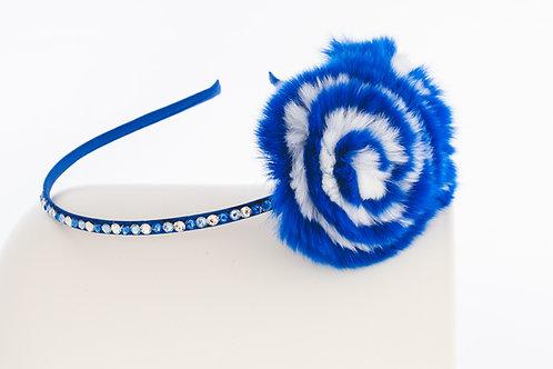 Blue Flower Puff