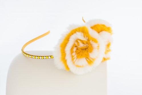 Yellow Flower Puff