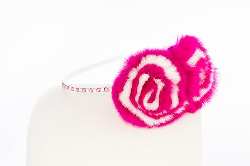 Hot Pink Flower Puff