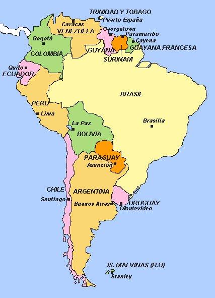 Mapa Politico De America Central Interactivo