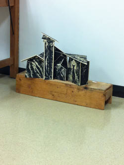 sculpture from woodblock