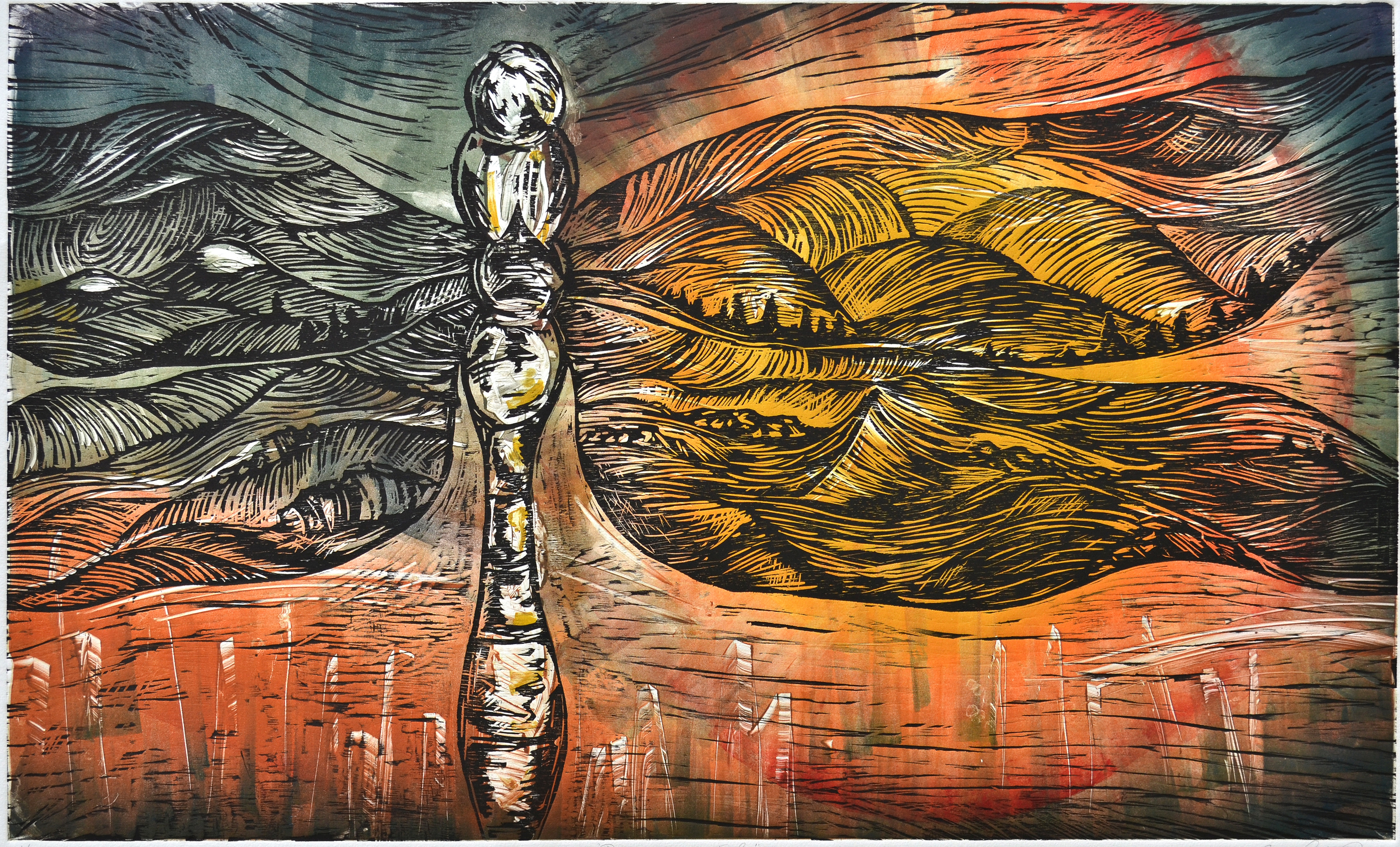 Large Scale Woodcut and Monotype